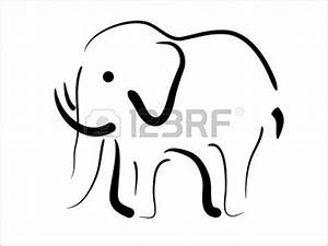 Simple Elephant Outline | Free download on ClipArtMag