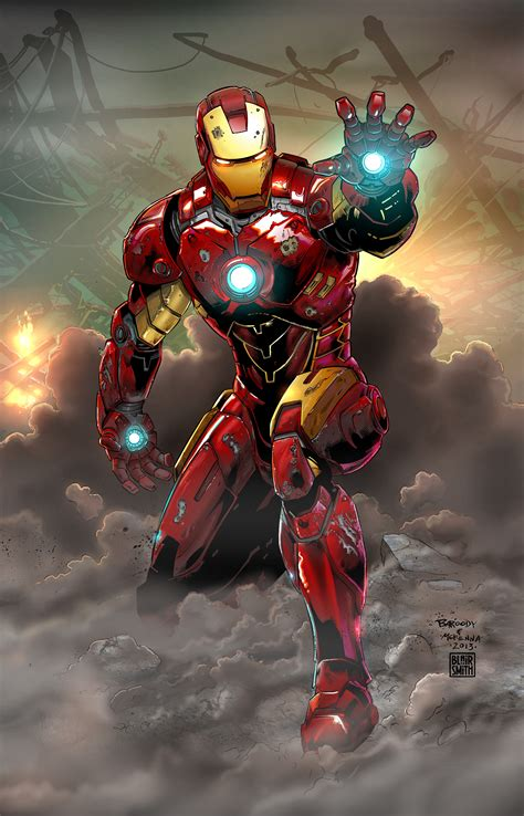 Iron Man Artwork iron man the art of blair smith