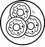 Donut Donuts Coloring Clipart Ausmalbilder Kawaii Transparent Pinclipart Clip Bilder sketch template
