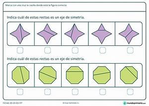 Ficha de eje de simetría en octógono para primaria