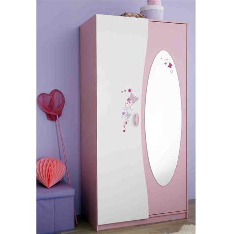ustensile cuisine bois armoire 2 portes avec penderie et miroir papillon dya