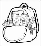 Backpack Coloring Bag Drawing Clipart Colouring Coloringpagesfortoddlers Clipartmag Bus Highly Detailed sketch template