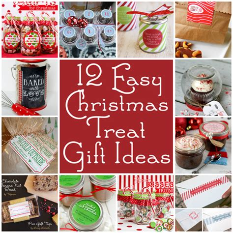 12 easy christmas treat gift ideas and printables easy