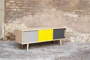 Meuble Tv Vintage : meuble tv bois retro solutions pour la d coration int rieure de votre maison ~ Teatrodelosmanantiales.com Idées de Décoration