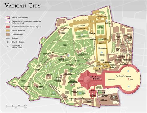 siege de velo plan et carte des monuments et bâtiments de la cité du vatican