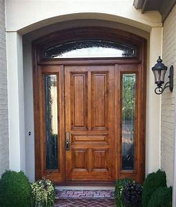 Wood Entry Doors Applied for Home Exterior Design - Traba ...