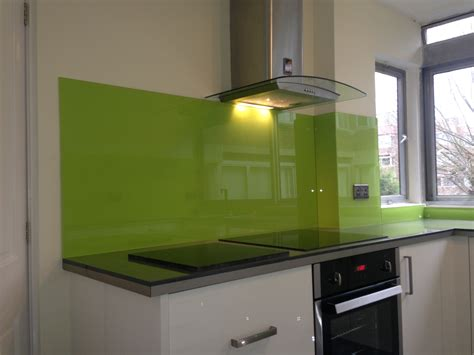 lime green splashback kitchen glass splash backs bespoke solid surfaces limited 7110