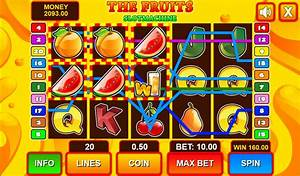 Slot Machine The Fruits HTML5 Casino Game by codethislab