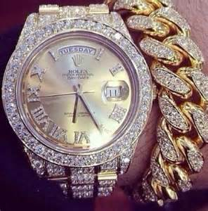 Rolex Watches Gold with Diamond