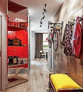 Dynamic One-Room Apartment Interior for Young People