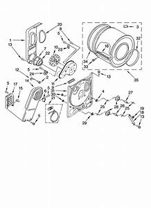 Crosley Residential Dryer Bulkhead Parts