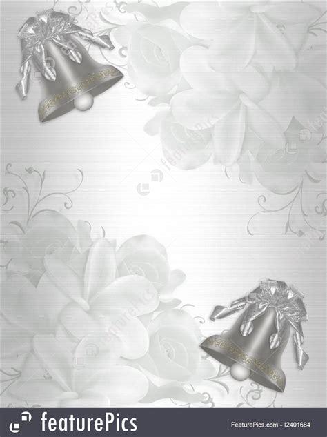 wedding invitation elegant satin silver bells stock