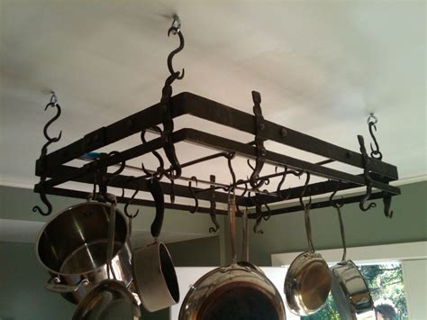 wrought iron pot rack made forged pot rack by hellgate forge custommade 1668