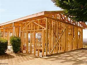 Plan autoconstruction maison ossature bois boismaison for Construire sa maison en bois
