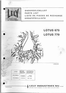 Lely Lotus Stabilo 675  U0026 770 Parts Manual