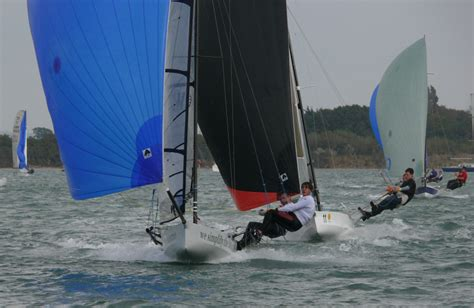 Trophy Boats Out Of Business by 12 Boats For The International 14 Fortitude Trophy At Itchenor