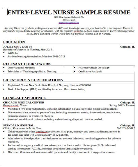 nurse resume with no experience 7 sle new nurse resumes exles in word pdf