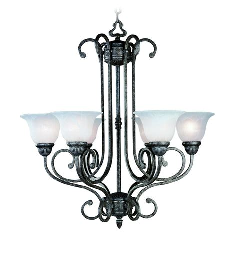 6 Light Chandelier With Shades by Tuscany Gray Chandelier 6 Lights With Alabaster Glass
