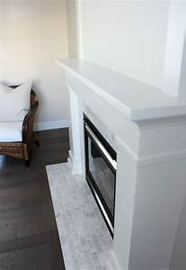 white marble fireplace the makeover details