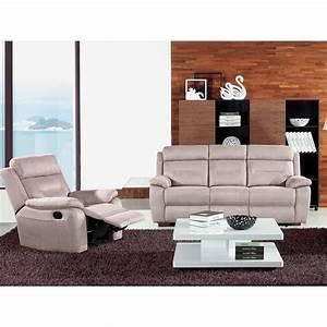 Fauteuil 3 Places : canap relax lectrique 3 places fauteuil relax lectrique microfibre accio univers des ~ Teatrodelosmanantiales.com Idées de Décoration