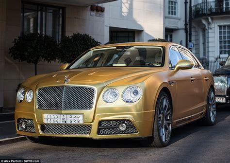 saudi arabian flies fleet  gold supercars  london