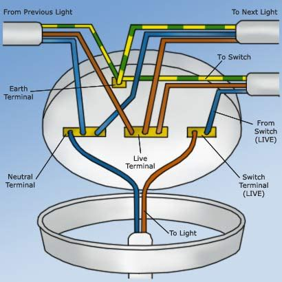 Wiring Ceiling Rose How Wire