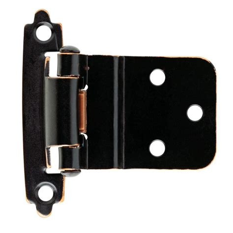 self closing cabinet hinges home depot liberty 3 8 in venetian bronze self closing inset hinge