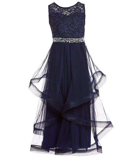 xtraordinary big girls   lacesolid long ball gown dillards