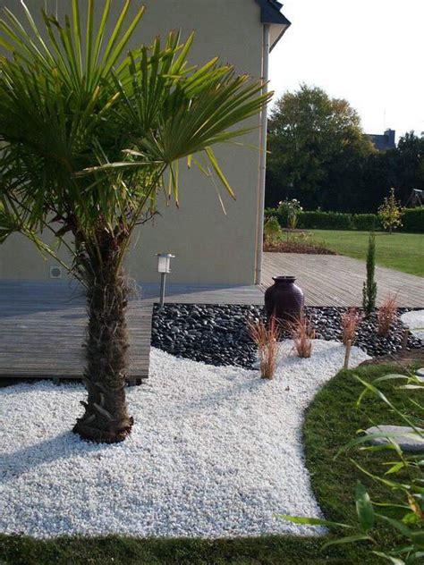 id 233 e massif avec caillou blanc jardin zen cailloux blanc cailloux et massif