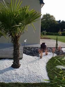idee massif avec caillou blanc jardin zen pinterest With idee deco jardin gravier 14 recherche on pinterest