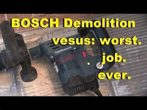 Harbor Freight 10 Amp Demolition Hammer vs. Ceramic Flo