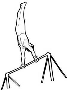 artistic gymnastics horizontal bar coloring page supercoloringcom