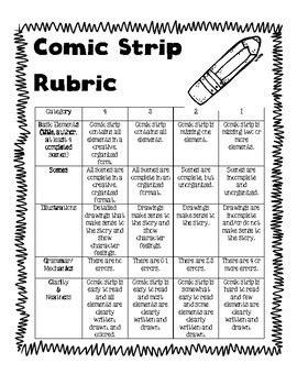 comic strip rubric  marvelous   teachers pay teachers
