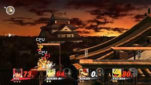 Super Smash Bros- Ryu vs. Bowser Jr., Bowser, and Pac-Man ...