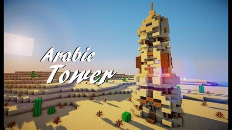 minecraft medieval arabic tower tutorial  martzert youtube