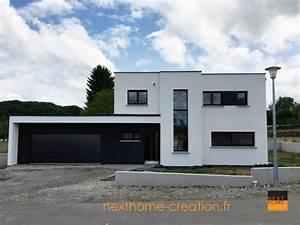 Maison En L Moderne : maison contemporaine toit plat et garage accol haut rhin nexthome cr ation ~ Melissatoandfro.com Idées de Décoration