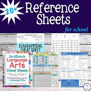 20  Reference Sheets For School