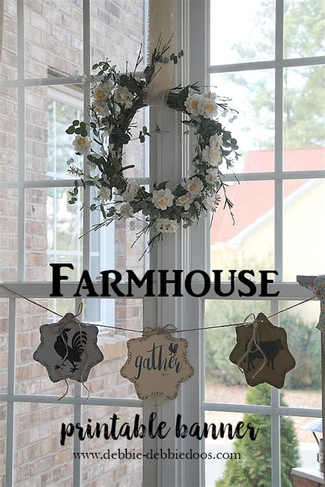 country french farmhouse  printable banner debbiedoos