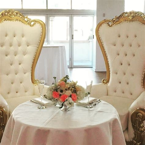 sweetheart table with king throne chairs yelp