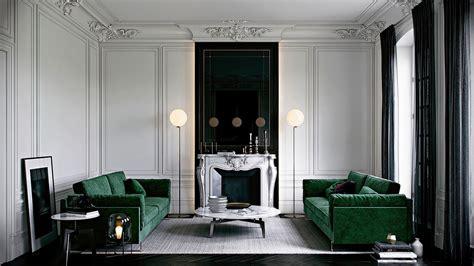 canap velours vert vert émeraude frenchy fancy
