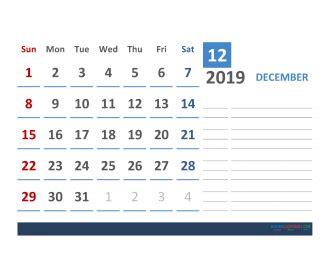 april  calendar template  space  notes