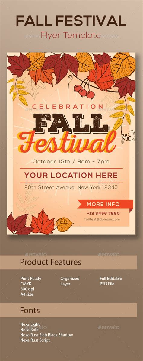 fall festival flyer template fall festival flyer template discover best ideas about flyer template
