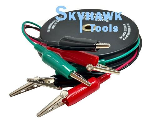 3 Wire 18 Ga 10 Ft Retractable Test Leads with Alligator ...