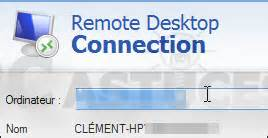 connexion bureau à distance windows 8 supprimer les informations enregistrées par la connexion