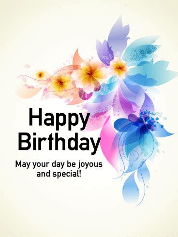 shining butterfly happy birthday card birthday