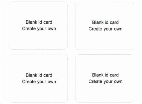wallet card template word elegant  blank id card