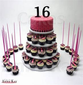Sweet Sixteen Cupcake Tower - CakeCentral.com