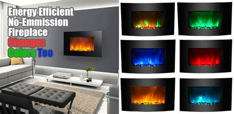 led fireplace  green purple blue flames heres