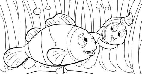 contoh gambar mewarnai gambar ikan nemo