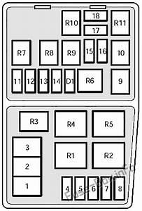 Fuse Box Diagram Mercury Mystique  1995